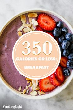 These 6 Breakfasts Are Under 350 Calories and Will Keep You Full Until Lunch Vegan Breakfast Recipes, Brunch Recipes, Vegan Recipes, Detox Breakfast, Heathy Breakfast, Breakfast Bites, Detox Diet Recipes, Vegan Meal Plans, No Calorie Snacks