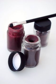 DIY Lipstick. This one uses beet root powder.