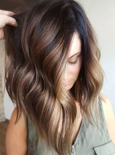 Top 20 Balayage Hairstyles for Natural Brown Hair Color Ideas for 2017/2018 Trends