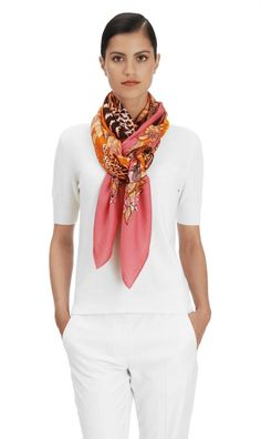 New with tag and box Rare to get it. Color: Rose Buvard/Soleil/Brun Material: Cashmere, silk Designed by Robert Dallet Made in France Ways To Wear A Scarf, How To Wear Scarves, Ways To Tie Scarves, Scarf Knots, Scarf Wrap, Scarf Dress, Cashmere Scarf, Scarf Styles, Capsule Wardrobe