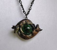 Fox Wolf Custom Necklace Yin Yang Couple Pendant Marble by wcgoods, $32.00