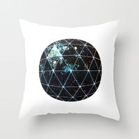 Throw Pillows featuring Galaxy Geodesic  by Terry Fan