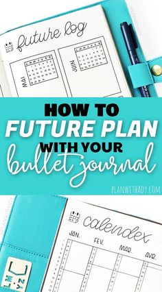 3 different methods to future plan in your bullet journal