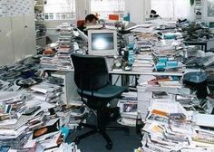 Which of the two interviewers is disorganized and overwhelmed with paperwork? Or maybe both?