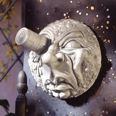 Design Toscano Trip to the Moon Wall Sculpture, Antique Stone Metal Wall Sculpture, Wall Sculptures, Lion Sculpture, Moon Decor, Wall Decor, Biscuit, Outdoor Wall Art, Paper Moon, Cosplay