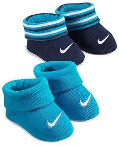 Nike Baby Socks, Baby Boys 2-Pack Booties - Kids Baby Boy (0-24 months) - Macy's $12