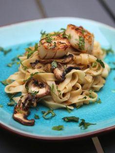 Tagliatelles aux Noix de saint Jacques - Recette de cuisine Marmiton : une recette