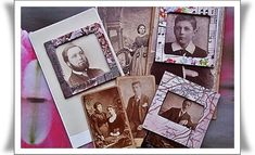 Make your own mini photo frames    PHOTO Slide Mounts for Collage Assemblage by thevintagearcade, $12.00