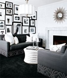 Interior design: Old Hollywood glamour.... another amazing room! Love the nailhead detail.