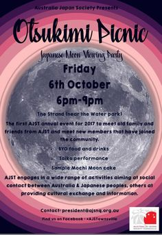 The Australia Japan Society North Queensland (AJSNQ) invite the Townsville community to join them for an upcoming Otsukimi Picnic on The Strand.