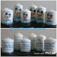 Risultati immagini per candele decorate per battesimo