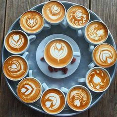 The Most Satisfying Cappuccino Latte Art - Coffee Brilliant Coffee Latte Art, Coffee Cafe, Coffee Drinks, Iced Coffee, Espresso Coffee, Coffee Tray, Decaf Coffee, Blended Coffee, Coffee Shops