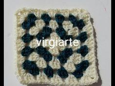 """""""DIY"""" Tutorial Super fácil Granny Square a Crochet Labor, Diy Tutorial, Crochet Hats, Youtube, Granny Squares, Crocheting, Totes, Knitting Hats, Youtubers"""