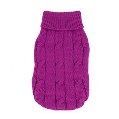 Uxcell Twisted Knit Ribbed Cuff Pet Warm Apparel Sweater XXSmall Fuchsia * Click image for more details.