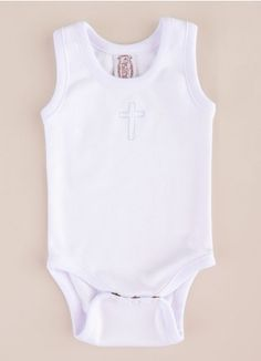 Sleeveless Cross Bodysuit in soft Pima cotton makes a wonderful Christening gift! Christening Gifts, Thoughtful Gifts, Baby Boy, Bodysuit, Boys, Cotton, How To Make, Clothes, Fashion