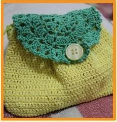 Crochet Lace Pouch. candelline's project