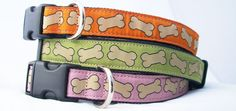These stylish adjustable collars and leashes from The Good Dog Company are made of a durable hemp canvas construction and include heavy duty quick-release hardware. Attractive, colorful bone design. Earth Friendly. Sustainable. Biodegradable. Naturally hypo-allergenic, anti-bacterial and odor absorbent! Available in Lime Green and Deep Pink. Sorry, Orange is unavailable.