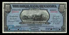 Barbados, Royal Bank of Canada, 20 dollars : January 1920 Canadian Coins, Canadian History, Mans Health, Christmas Vases, Royal Bank, Euro Coins, January 2, Old Money, Old Coins