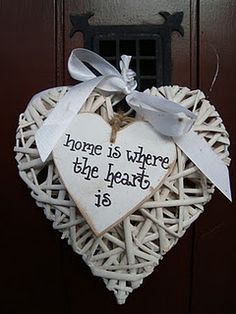 Heart decoration and life quote