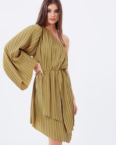 Ripple One-Shoulder Dress