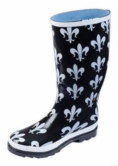 """""""Fleur de Fields"""" Rain Boots   Fleurtygirl.com"""