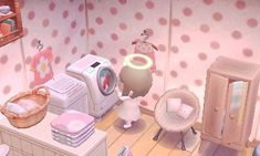 Not my town or picture but super cute acnl laundry area! Animal Crossing Pocket Camp, Animal Crossing Game, Animal Games, My Animal, Final Fantasy, Laundry Area, Laundry Room, Happy Home Designer, New Leaf