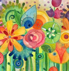 'Bring May Flowers' - by Lauren Alexander (Etsy) <> spring, springtime, illustration, watercolor, art
