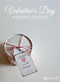 Valentine's Day Sugared Almonds