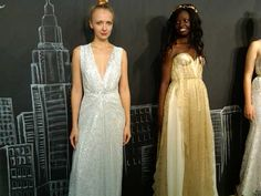 Silver beauty and golden goddess gowns by Sarah Seven