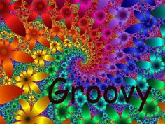 Groovy psychedelic art design pattern ~ ☮  レ o √ 乇 !!