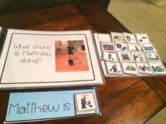 What is Matthew Doing? Adapted Book for Students with Special Needs