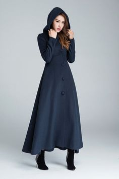 Hey, I found this really awesome Etsy listing at https://www.etsy.com/listing/479201813/maxi-coat-navy-blue-wool-coat-warm-coat