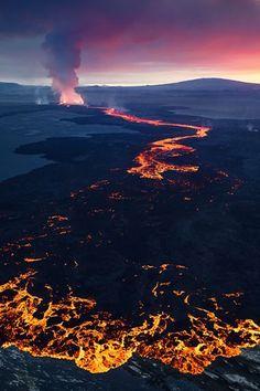 Volcanic Sunset by Erez Marom