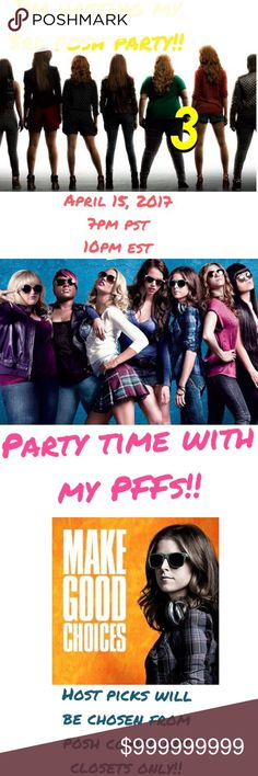 🎉I'M HOSTING MY 3RD POSH PARTY APRIL 15 🎉 🎉🍸🎉🍸🎉I'm hosting a posh party for the 3rd time on April 15, 2017, which is also my second anniversary of becoming a posh suggested User!!   Can't wait to party with my PFFs again!! Host picks will chosen once I have a theme and will be chosen from posh compliant closets only!!  Will update this listing with more info when I know my theme and my who my co-hosts will be!  🎉🍸🎉🍸🎉🍸🎉 Other