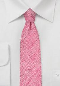Linen Skinny Necktie in Azalea