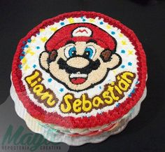 Mario Bros Buttercream Birthday Cake