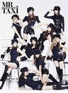 """111202 SNSD @ 3rd Album New Cover """" Mr.Taxi """"。"""