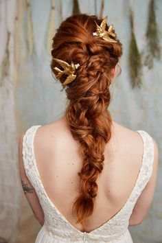 Amazing bridal hair inspiration for your wedding day! Keywords: bride, wedding hair, hair inspiration, up-do, up do, pink wedding, wedding backdrop, wedding inspiration, bridal hair, bun, bridal jewelry, bridal designer, made in New York City, Manhattan, New York City wedding.