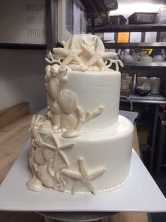 Seashell Cake to go with the sand castle cake