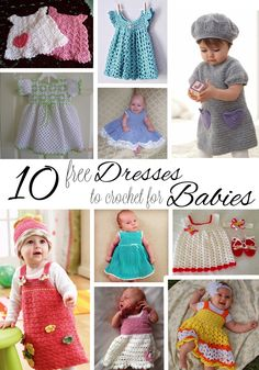 10 Free Dresses to Crochet for Babies | Imagine