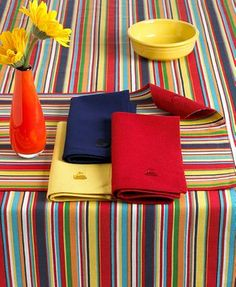 Fiesta Table Linens, Rainbow Burst 60