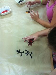 finger paint cave art