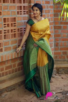 Check out these amazing royal latest silk sarees that you really can't afford to miss. Kanjivaram Sarees Silk, Indian Silk Sarees, Soft Silk Sarees, Indian Beauty Saree, Yellow Saree Silk, Phulkari Saree, Kanchipuram Saree, Latest Silk Sarees, Wedding Saree Collection
