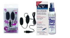 ESensual Black Bullet And AntiBacterial Toy Cleaner 4.3 Oz. And A KY Jelly 2 Oz. Tube