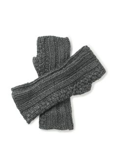 Textured Knit Mittens in Mid Grey Marl from hush Laid Back Style, My Style, Wrist Warmers, Knit Mittens, Lounge Wear, Fashion Accessories, Gloves, Women Wear