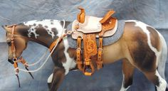 CM WESTERN SADDLE BREYER PETER STONE