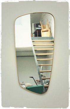 Miroir Vintage Forme Libre Asymétrique