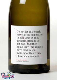 Wine Bottle Warning  http://makemoney.ie