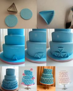 Preciouspeggy's fondant circles cake tutorial pinned from cakecentral com by mollie Fondant Tips, Fondant Tutorial, Fondant Cakes, Fondant Recipes, Cake Recipes, Cake Decorating Techniques, Cake Decorating Tutorials, Cookie Decorating, Decorating Cakes