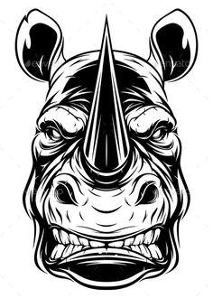 Buy Ferocious Rhino Head by on GraphicRiver. Vector graphics Install any size without loss of quality. Skull Stencil, Stencil Art, Skull Art, Stencils, Rhino Tattoo, Gorilla Tattoo, Graffiti Words, Graffiti Art, Kopf Tattoo